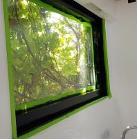 photo of painting the window frames
