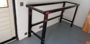 photo of installed table frame